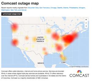 comcast internet outage 2018